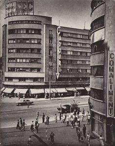 Str. C.A. Rosetti colt cu blvd. Magheru. Bucharest Romania, Timeline Photos, Time Travel, Buildings, Places To Visit, Traveling, Memories, City, Vintage