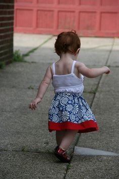 Toddler skirts from Fat Quarters