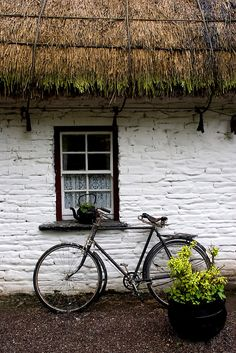 Old Bicycle at Bunratty Folk Park, Ireland
