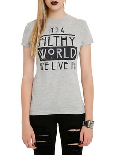 American Horror Story Filthy World We Live In Girls T-Shirt   Hot Topic