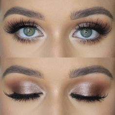 (notitle) - Make-up - Titel Maquillage - maquillage naturelle - maquillage tutoriel - Wedding Makeup Tips, Natural Wedding Makeup, Wedding Hair And Makeup, Bridal Makeup For Green Eyes, Purple Makeup, Green Eyes Makeup, Light Eye Makeup, Bridal Smokey Eye Makeup, Weeding Makeup