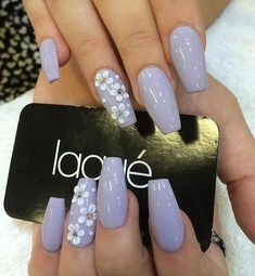 """50 Coffin Nail Art Ideas Gray might be an """"old"""" color, but add bits if flowers and diamonds and it would be a perfect design for your coffin nails. Best Acrylic Nails, Acrylic Nail Designs, Nail Art Designs, Nails Design, Perfect Nails, Gorgeous Nails, Nails Kylie Jenner, Maroon Nails, Nail Ideas"""