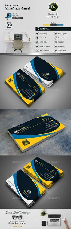 #Business Card - Corporate Business Cards Download here: https://graphicriver.net/item/business-card/17475056?ref=classicdesignp