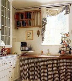 cocina muebles con cortina - Cerca amb Google