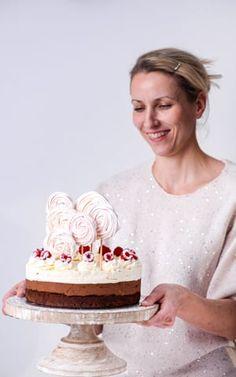 Tort Czekoladowa Fantazja z Malinami Polish Desserts, Polish Recipes, Easy Cake Recipes, Dessert Recipes, Maila, Lemon Curd, Pavlova, Sweet Bread, Vanilla Cake