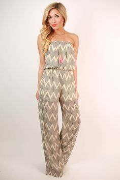 Like the lazy ocean hugs the shore, this jumpsuit moves with your body and looks amazing on!