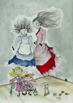 The Nannies by StagiWorks on Etsy, $45.00
