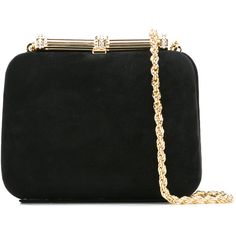 Loriblu Gold Chain Clutch Bag ($533) ❤ liked on Polyvore featuring bags, handbags, clutches, gold handbags, loriblu, gold chain handbags, chain purse and gold clutches