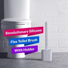 Cleaning the toilet has never been this easy! Introducing the Revolutionary Silicone Flex Toilet Brush With Holder. The best and most effective toilet brush there is! It's equipped with a flexible, D-shaped brush head that's made of tiny silicone bristles. It has the ultimate cleaning ability. Allows you to clean and r Cleaning Spray, Household Cleaning Tips, House Cleaning Tips, Cleaning Hacks, Cleaning Products, Household Products, Car Seat Organizer, Toilet Brush, Hygiene