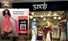 Ethnic wear brand soch is holding the Red Dot sale of saris, salwar kameez, kurtis and suits at Lulu mall. The red dot sale is also running on the brand's e-commerce platform www.sochstudio.com