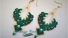 "Tutorial macrame  earrings "" Victoria "" /  Diy tutorial / orecchini macrame"