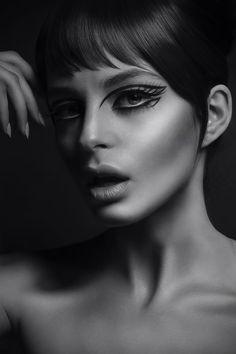 The gorgeous makeup of my friend Nikki Makeup. *sixties beauty makeup #eyeliner