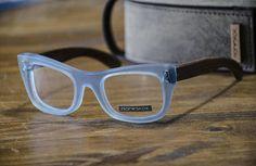 Blue glasses Wood and acetate reading glasses model Porto