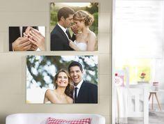 Euer schönster Tag fürs Wohnzimmer: http://www.cewe-fotobuch.at/produkte/wanddekoration/ #diy #wanddeko #wedding #love