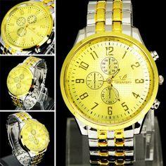 Reloj plateado esfera dorada - 8€ Ref: R104