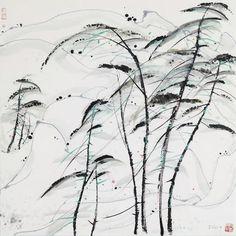 Wu Guanzhong (1919-2010) Music Notes of Pines