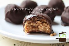 Chocolate Covered Cookie Dough Bites (Grain-free) | The Unrefined Kitchen | Paleo & Primal Recipes