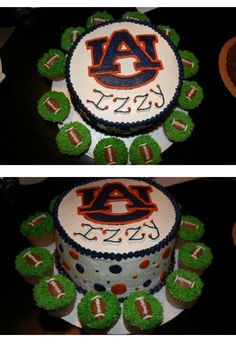 birthday cake for little girls auburn  party with footbal cupcakes