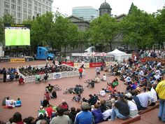Pioneer Courthouse Square - Portland, Oregon Living Room Photos, Portland Oregon, Urban Design, Your Photos, Dolores Park, Environment, Photography, Travel, Photograph
