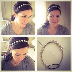 Wear Stella & Dot's Somervell Necklace as a headband. The clasps on both ends of the necklace also allow it to be attached to another necklace for added sparkle.