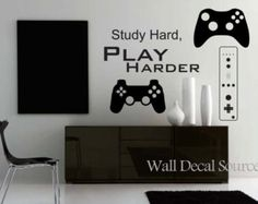 Game Controllers Wall Decal - Gamer Wall Decal - Reusable Available