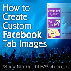 The Tab Images are less obvious in the new Facebook Page design, so creating Custom Images in your brand color will help people notice them! Learn how: http://louisem.com/1180/how-create-custom-tab-images-facebook-timeline-fan-page #FacebookTips #FacebookMarketing