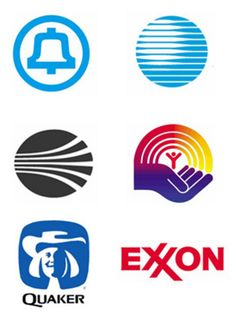 American Famous Logos Graphic Design - Logos Design by Saul Bass (b. 1920 - d. 1996, Usa).