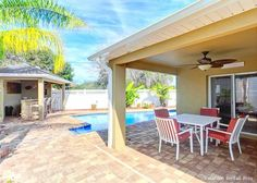 Atlantic Oasis has private pool and tiki bar with HDTV