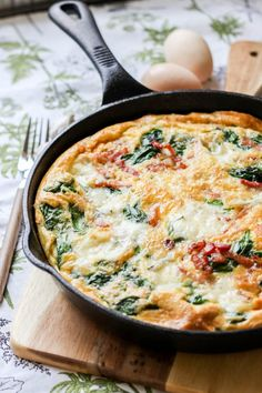 Frittata, Cake Recipes, Breakfast Recipes, Food Porn, Healthy Recipes, Cooking, Pies, Diet, Spinach