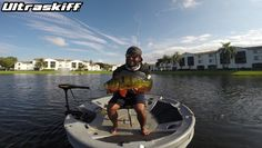 Ultraskiff - Round Boat | Round Watercraft | Round Skiff | Round Boats | Roundboat | Round Watercrafts | Round Skiffs | Small Boat | One Man Boat | Stability | Sales | Dealer | Personal Watercraft | Roundboats | Portable  The infamous Monster Mike with a healthy Peacock Bass