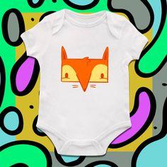 Cute Fox, Boys Bodysuit, Girls Onesie,baby clothing,Baby Bodysuit,Baby Girl Bodysuit, Wild Child Style, Baby Gift, Custom onesie