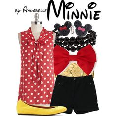"""Casual Minnie Mouse"" by annabelle-95 on Polyvore"