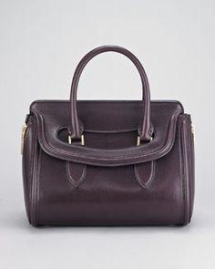 V153S Alexander McQueen Calfskin Heroine Satchel Bag