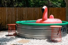 How I Made a Stock Tank Pool My Backyard Oasis   Wirecutter Poly Stock Tank, Stock Tank Pool, Diy Pool, Building A Pool, Swimming Pools Backyard, Above Ground Pool, Best Charcoal, Pool Designs, Truck Bed