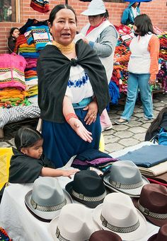 Panama hats, Otavalo, Ecuador.  Yes, Panama hats are from Ecuador...not Panama