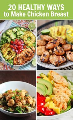 20 Healthy Ways to Make Chicken Breast-#recipe roundup #FitFluential (video included!) I love Pinterest. It's fun and profitable @ http://www.morningsolutions.com/sm