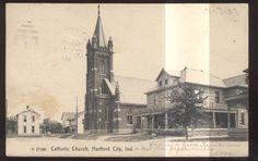Catholic Church & Rectory, Hartford City IN