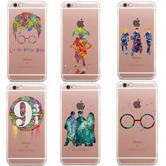 Avada Kedavra Harry Potter Bitch deer Harry Potter Watercolor Art Soft Clear TPU Phone Case Cover For iPhone 5C 5s 6 6s 7 7Plus