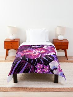 """Red Violet Aloha"" Comforter by ninabmay 