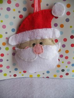 Christmas decorations- Felt Santa Claus