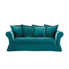1000 images about d co on pinterest canapes tvs and bureaus - Canape bleu turquoise ...