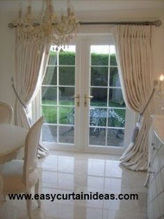 french door curtains | French Doors