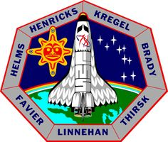 Sea and Sky's Space Shuttle Mission Insignia page features mission patch images from all of NASA's manned space shuttle missions to Earth orbit between the years 1996 and
