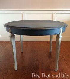Annie Sloan Aubusson Blue and Graphite Table