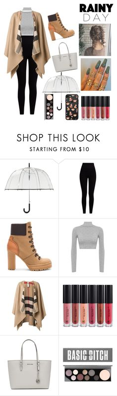 """""""Rainy Days"""" by julie-clove ❤ liked on Polyvore featuring ShedRain, Pepper & Mayne, See by Chloé, WearAll, Burberry, MICHAEL Michael Kors, MAC Cosmetics and Casetify"""