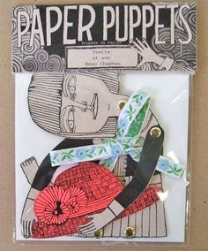 'Paper Puppets' by The Pin Pals (Samantha Purdy and Sara Guindon. Paper Dolls, Art Dolls, Paper Art, Paper Crafts, Paper Puppets, Puppet Making, Inspiration Art, Toy Craft, Monster High Dolls