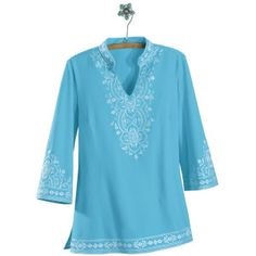 embroidered knit tunic. northstyle.com, $40