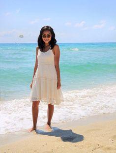 #beach #cream #lace #summer #sunnies