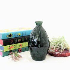 Green Italian Mid Century Modern Vase Vase Signed Italy Mod