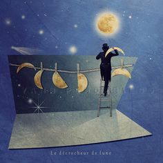I love you to the moon and back Moon and stars by PhotographyDream